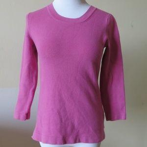BANANA REPUBLIC Pink 3/4 Sleeve Sweater - Size XS